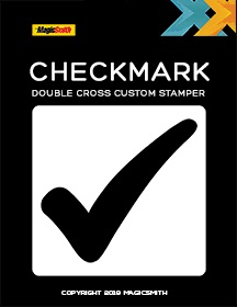 Checkmark Stamper Part for Double Cross | New Item | SEO MAGIC